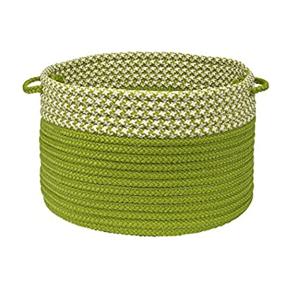 Image of Houndstooth Dipped Basket Colonial Mills, 24 by 14-Inch, Lime Bread Baskets