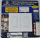 Wi Fi Smart Dimmer Light Switch 2 Pack, Compatible with Alexa and Google