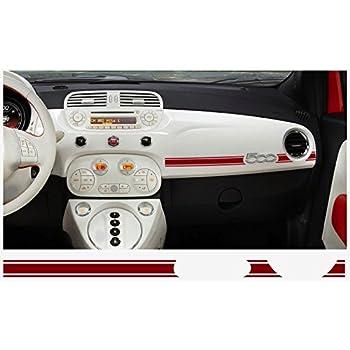 Amazon Com Fiat 500 Abarth Dashboard Decal 2 Pcs Red