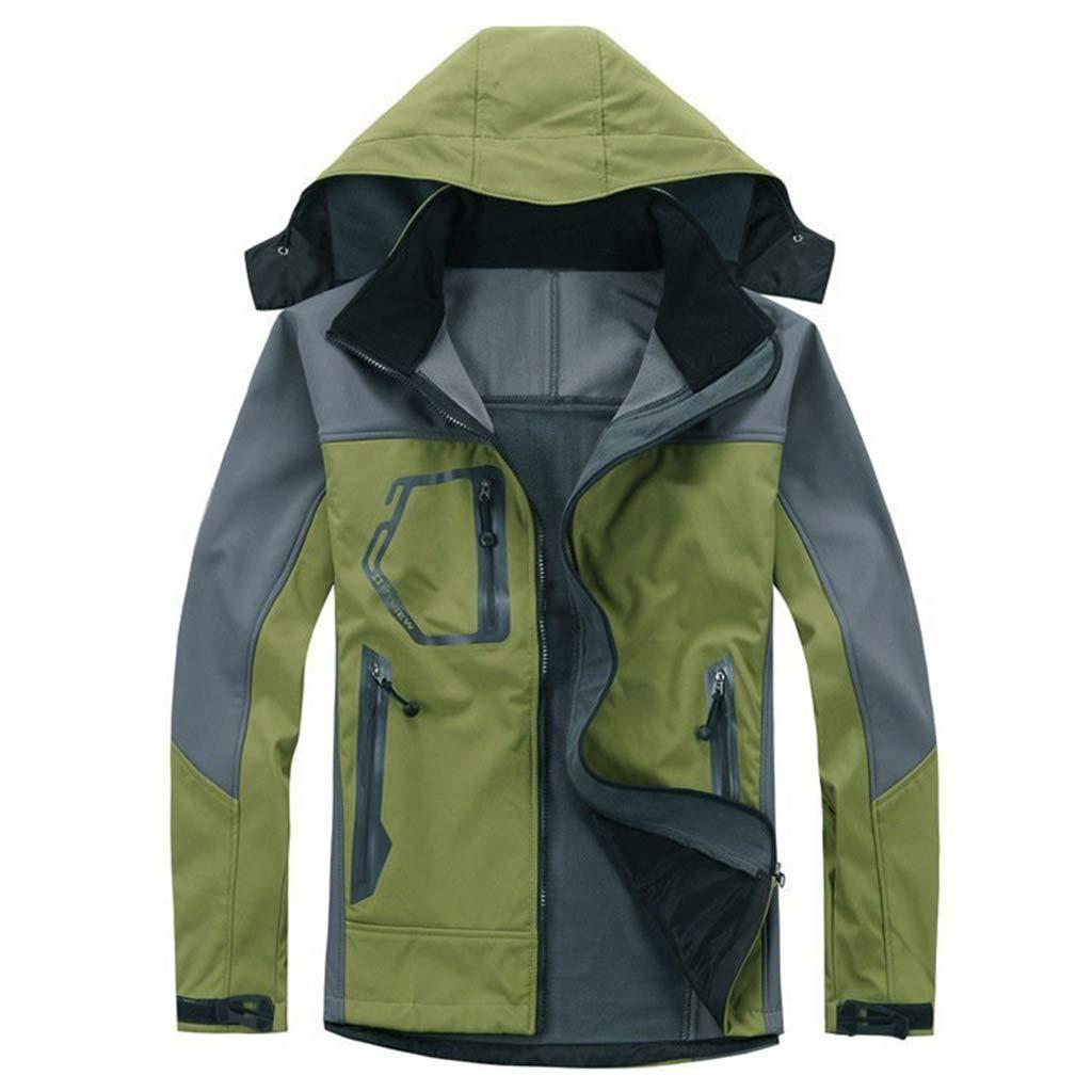 Liabb Herren Bergwasserdichte Jacken-Winter-warme Thermojacke Ski Windjacke Fleece Mäntel mit Kapuze Ski Klettern Bekleidung