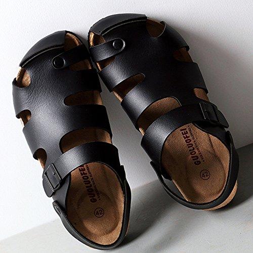 uomo Primavera da Pantofole 5 ZHANGRONG Outdoor CN37 Casual Colore Estate Comfort Marrone dimensioni UK4 Pantofole 5 Nero EU37 qHESwtwnx