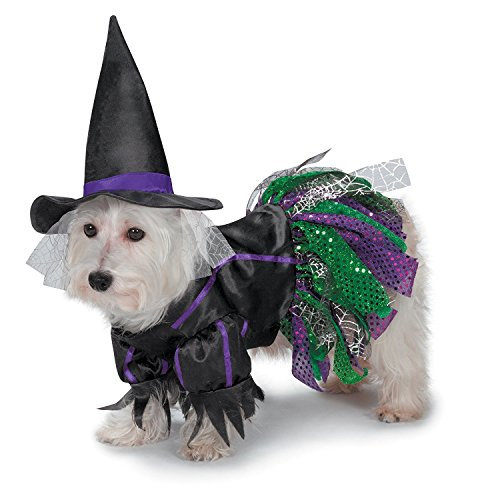 Satin Witch Costume (Zack & Zoey Scary Witch Costume for Dogs,)