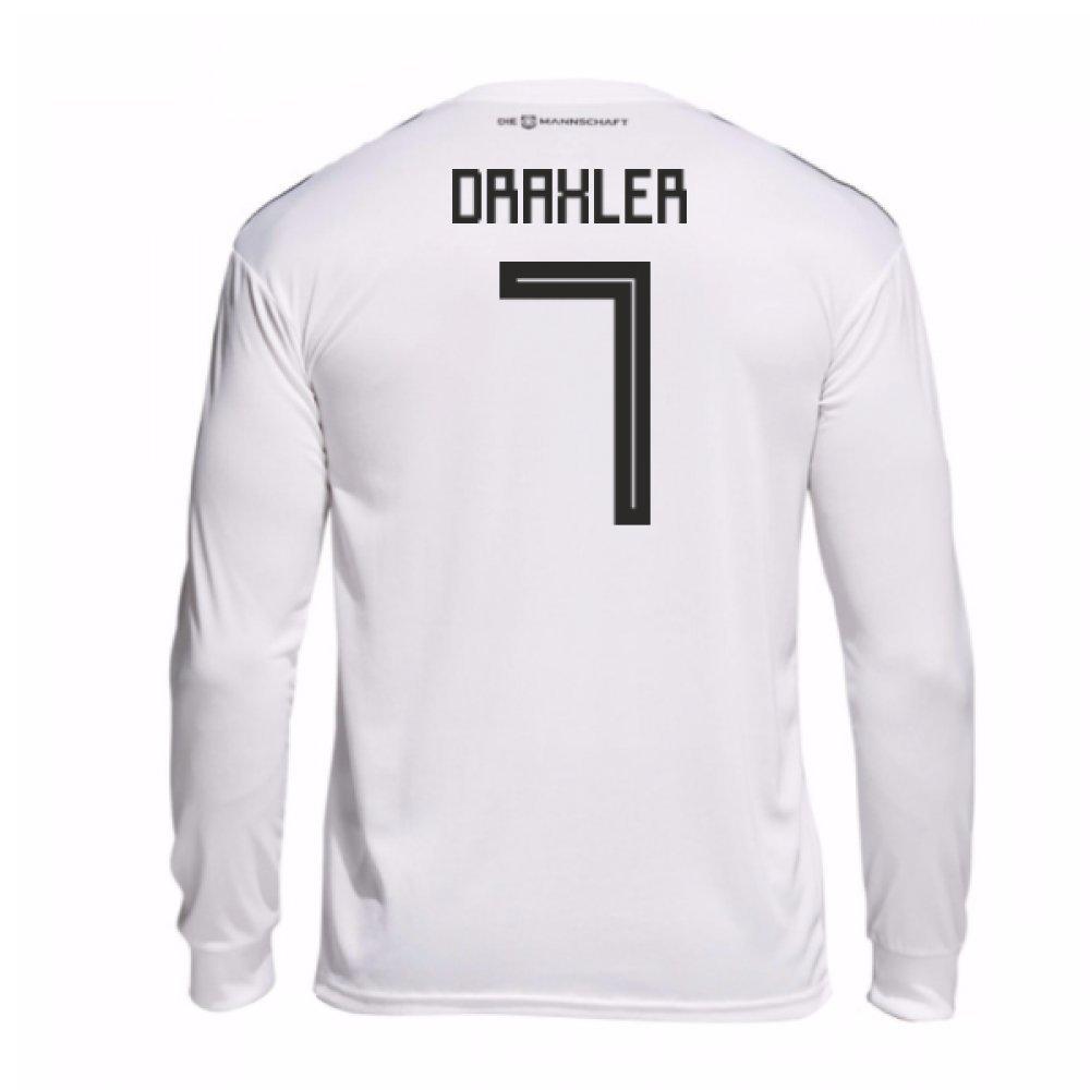 2018-19 Germany Home Long Sleeve Football Soccer T-Shirt Trikot (Julian Draxler 7)