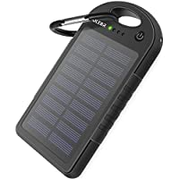 Solar Charger OLEBR 12000mAh Outdoor Portable Charger Solar Power Bank Dual USB External Battery Pack Power Pack with 26 Flashlight (IPX4 Waterproof, Dustproof, Solar Panel Charging, DC5V/1.5A Input)