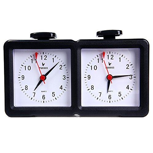[해외]BISOZER 체스 클럭 전문 도약 PQ9905 Quarz 아날로그 체스 시계 I-이동 카운트 다운 타이머 / BISOZER Chess ClockProfessional LEAP PQ9905 Quarz Analog Chess Clock I-go Count Up Down Timer