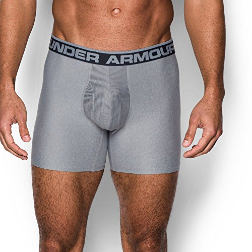 "Under Armour Men's Original Series 6"" Boxerjock 2-Pack, Carbon Heather/True Gray Heather, Small"