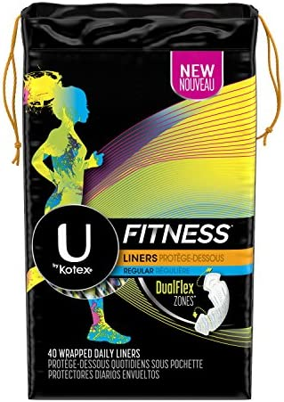 Kotex Fitness Liners, Regular, 40 Count