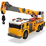 "Dickie Toys 24"" Light and Sound Construction Crane Truck (With Moving Ladder)"