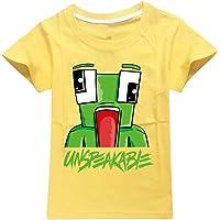 Dgfstm UNSPEAKABLE Boys Girls T-Shirt Youtuber Kids Fashion Tops Shirt
