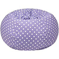 Gold Medal Bean Bags Small/Toddler Polka Dot Print Bean Bag, Lavendar