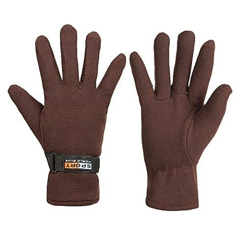 GLOUE Winter Gloves Winter Keep Warm Soft Fleece Lined Gloves Multiple Color for Men & Women - Purpose Marine Grease