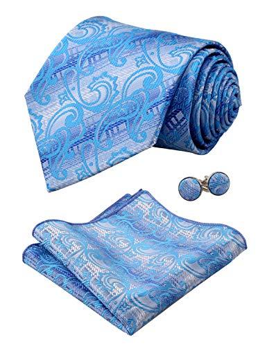 Turquoise Homme Manchette Pochette Alizeal Lot cravate De Boutons 1dBq0Bw