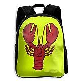 Lobster Kids Backpacks Double Shoulder Print School Bag Travel Gear Daypack Gift