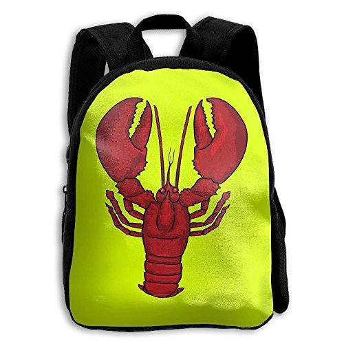 Lobster Kids Backpacks Double Shoulder Print School Bag Travel Gear Daypack Gift by LAUR