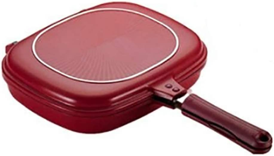 Square Double Sided Frying Pan, Kitchen Non-stick Baking Pancake Pan Omelette Trays, Indoor/Outdoor Camping Sandwich Toaster Grill, Cooks Toasties, Breakfast and More