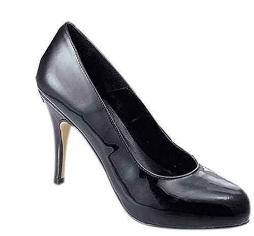 Alto es Negro Zapatos Tacón Charol En De Piel EuAmazon Negro40 hCdtQrs