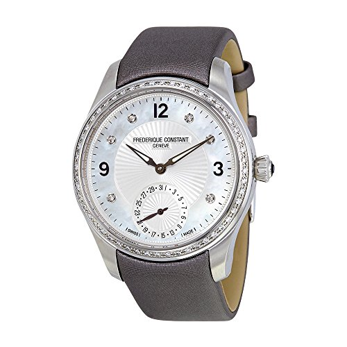 Frederique Constant Maxitime Mother of Pearl Dial Diamond Ladies Watch FC-700MPWD3MD6-GR