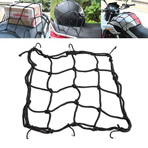 SunTrade Adjustable Bungee Cord Cargo Net Motorcycle Helmet Mesh Storage Tie Down Black (Motorcycle Helmet Storage)