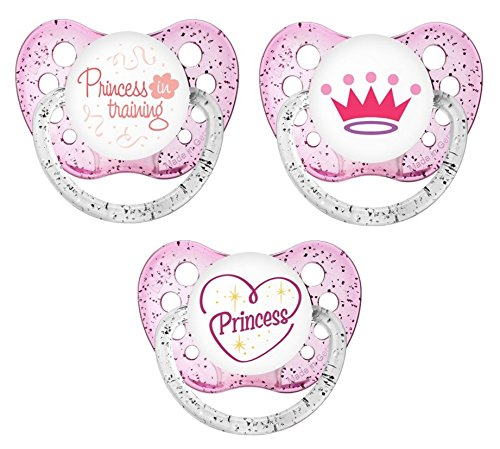 - Ulubulu Classic Expression Pacifier - 0-6 Months - 3 Pack - My Little Princess