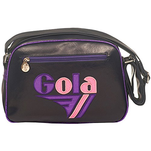 Gola Mini Redford Glitter CUB050, Borsa a Tracolla (Navy/Purple/Pink)