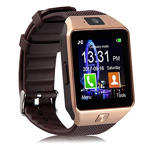 Padgene DZ09 Bluetooth Smart Watch with Camera for Samsung, Nexus, HTC, Sony, LG and Other Android Smartphones (Gold)