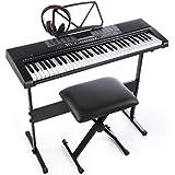 Joy 61-Key Standard Electronic Piano Keyboard Set with Stand,Stool and Power Supply (JK-63M-KIT)
