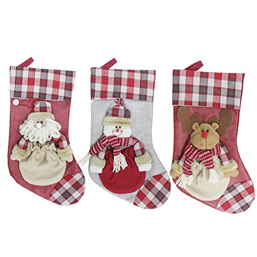 3Pcs 3D Christmas Gift Stockings Candy Case Home Decoration for sale  Delivered anywhere in USA