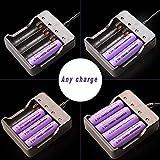 Best 18650 Batteries - 18650 Intelligent Smart Battery Charger 4Bay, Universal Smart Review