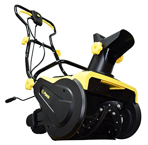 Efficient and powerful, electric snow blower in Yellow.