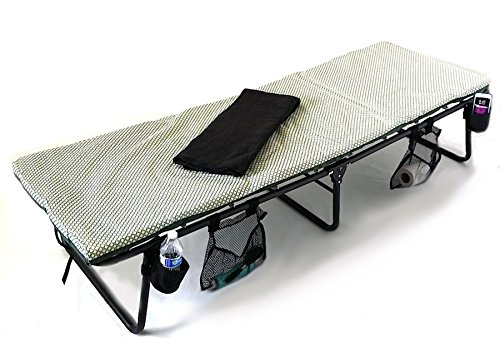 SAME DAY SHIPPING----COLEMAN HEAVY-DUTY DELUXE Folding Cot-10 YEARS WARRANTY.......A BONUS LED LIGHT AND A BONUS BLANKET INCLUDED WITH YOUR PURCHASE (Coleman Multicolor Flashlight compare prices)