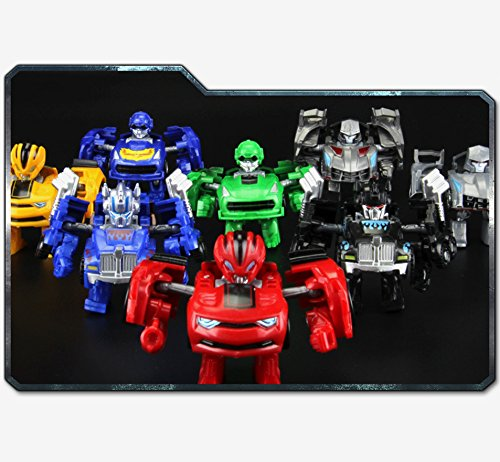 エレガントで美しいポケット変身ロボット 車のおもちゃ かわいいミニ変形カーモデル 男の子用おもちゃ ギフト シルバー LHJ-GG012-20190214-a431 B07NQKGBFZ レッド レッド