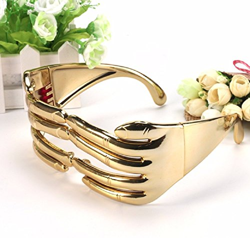 LB-Funny Finger Shaped Halloween Mask Decoration Party Costume Favors Adults Photo Booth Props Glasses (gold color)