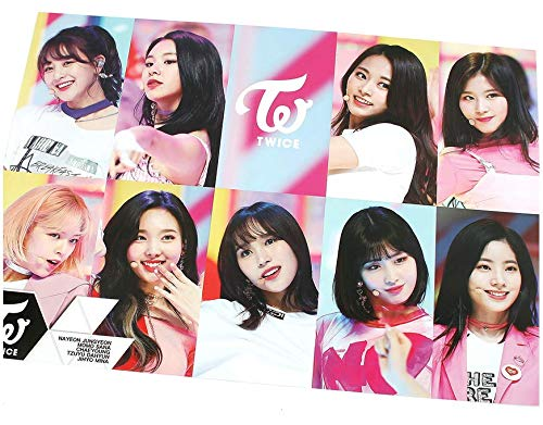 TWICE - 12 PHOTO POSTERS(16.5 x 11.7 inches) + 1 STICKER + 5 Photos(4 x 3 inches)
