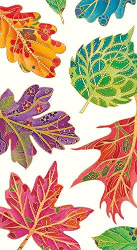 Caspari Entertaining Jeweled Autumn Guest Towel, 15 Pack
