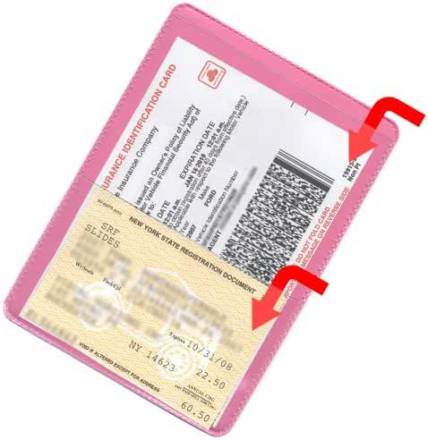 StoreSMART - Pink-Back Auto Insurance & ID Card Holders - 25 Pack - RFS20-PK25