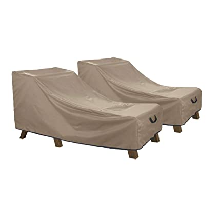 Amazon Com Ultcover Waterproof Patio Lounge Chair Cover Heavy Duty