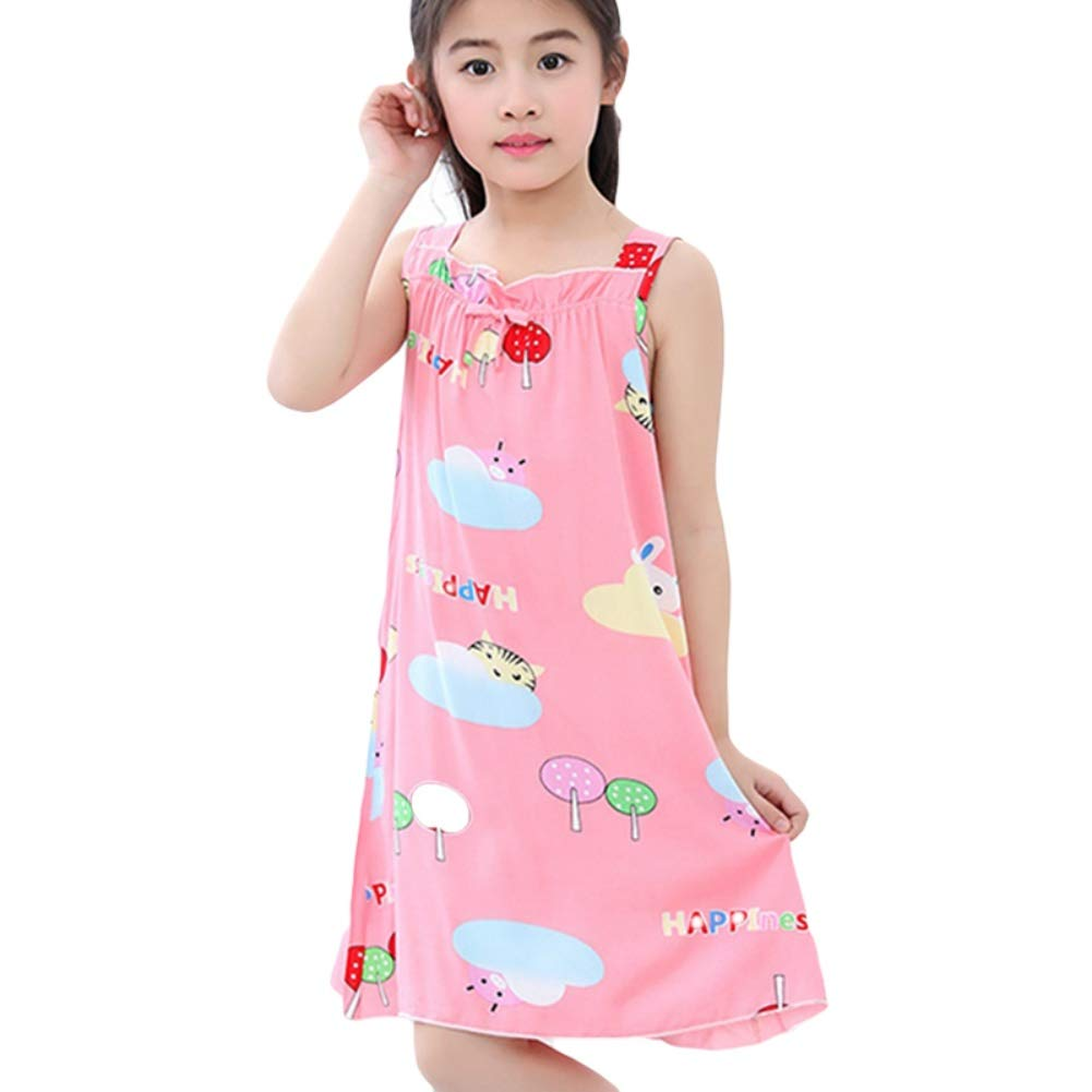 Blaward Baby Girls Nighties/Cute Cartoon Nightdresses for Kids/Sleepwear Costumn for 3-8 Years