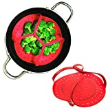 2 Pack Tovolo Silicone Steamer Basket Handle Vegetables Food Pressure Cooker Insert