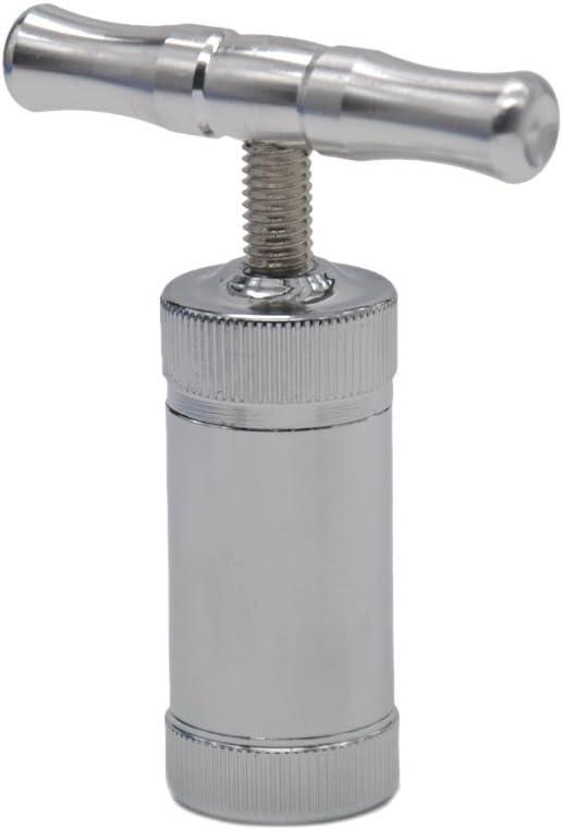 triturador de Especias de Tabaco para trituradora de Hierbas para prensas de Polen y Muchos Otros usos creativos. WXH Compresor prensador de Polen de Aluminio y Metal
