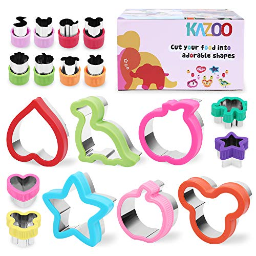 Kazoo Holiday Cookie Cutters-18pcs,Sandwich Cutters for kids,Animal,Cartoon and Various Shapes Christmas Gifts for kids