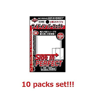 KMC 10 Set Card Barrier Sleeve Side in Perfect from Japan: Sports & Outdoors