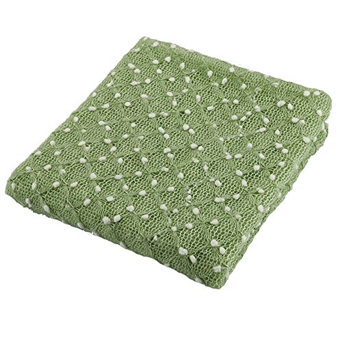 Newborn Photography Props Newborn Wraps Baby Photo Blanket, Basket Layer Filler Backdrops Dot Pattern Pretty Breathable Acrylic 59X39inch (Green)