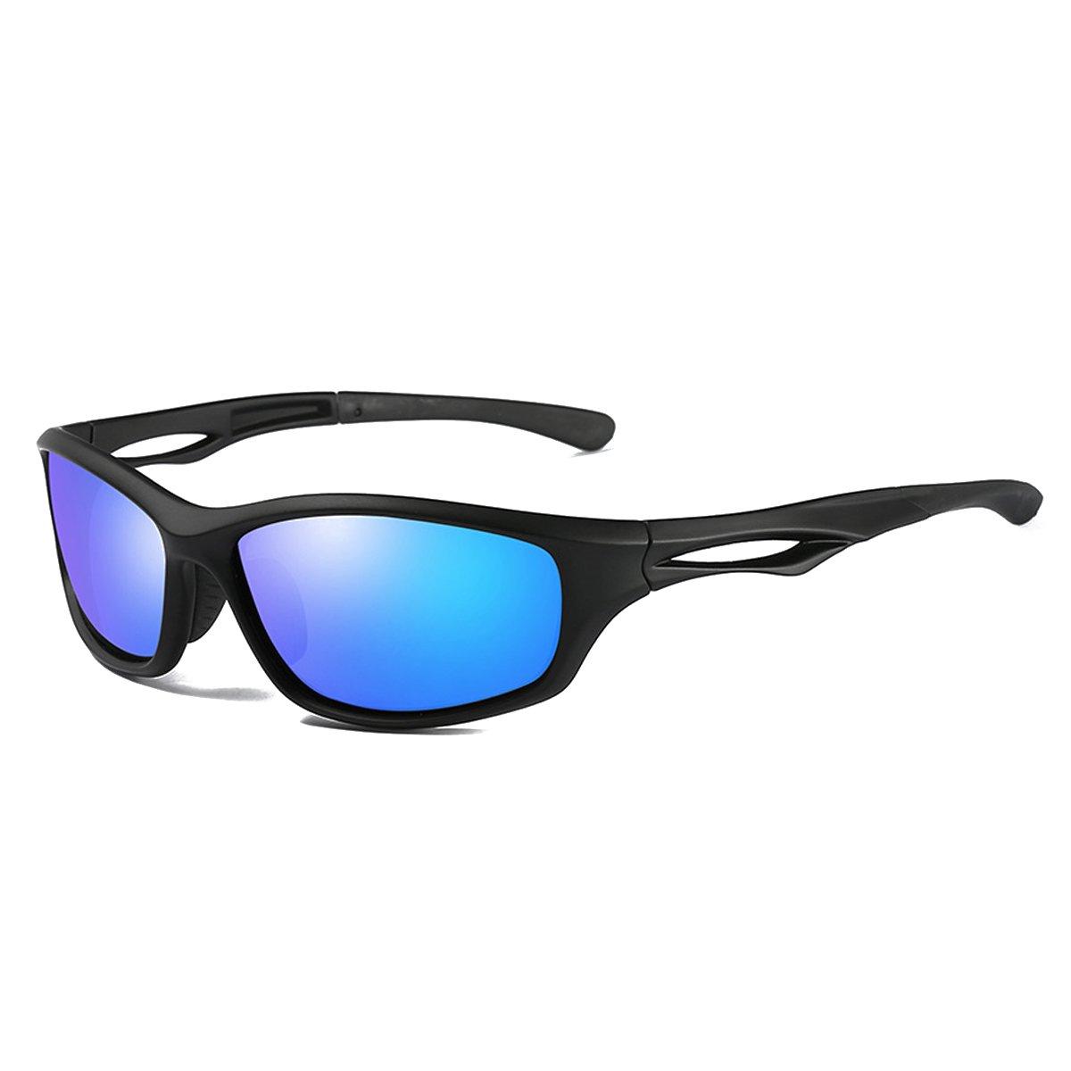 CHEREEKI Lunettes de Soleil Polarisées Sport, Ultra-léger Driving Lunettes  de Soleil UV400 Anti-Réfléchissant Lunettes pour Hommes Femmes Outdoor  Sports Ski ... 4b5bfc73aabb