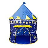 bjduck99 Kids Outdoor Indoor Portable Foldable Princess Castle Tent Play House Toy Gifts - Blue