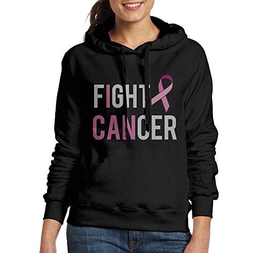 Lonekit Women's Fight Cancer Hooded Sweatshirt