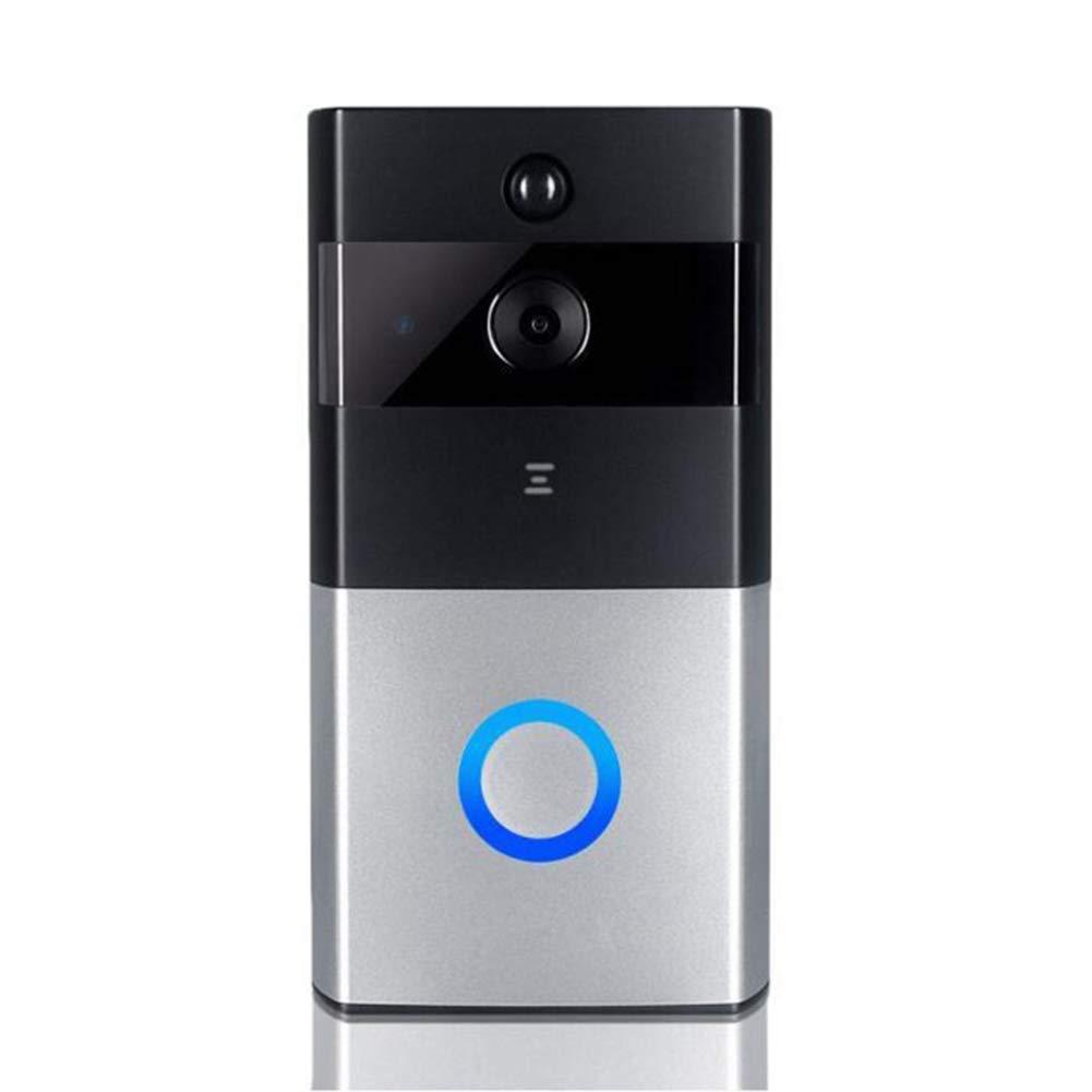 Hswt Video Türklingel Sicherheitsklingel Intelligent Wireless Video zur Fernüberwachung 1080p HD-Video Gespräch in beide Richtungen Bewegungserkennung Wi-Fi-Verbindung Türklingel
