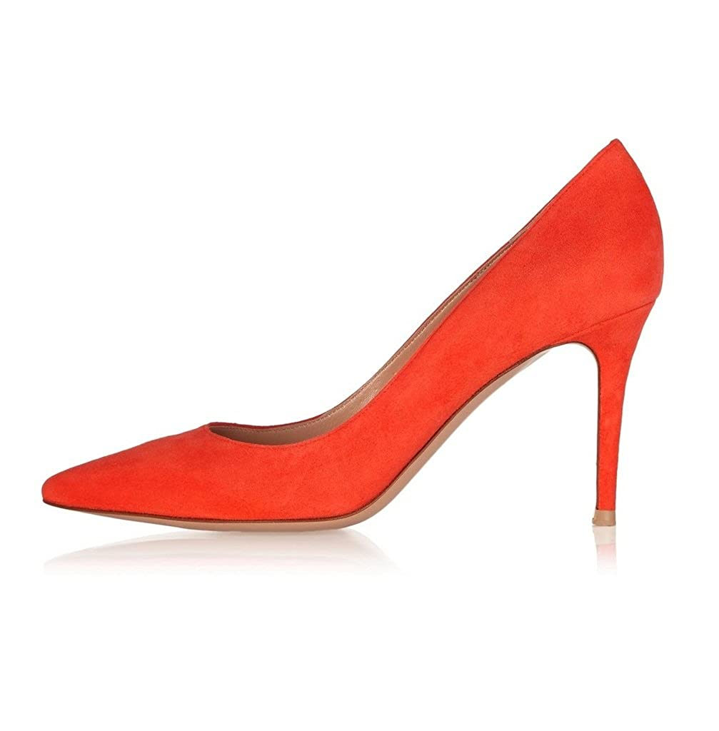 elashe elashe elashe Scarpe da Donna - 8CM - Scarpe Col Tacco - Classiche Scarpe Col Tacco  Arancia ac3e42