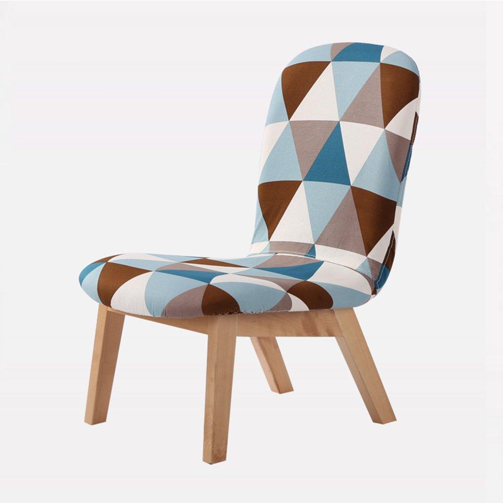 ZEMIN ダイニングチェア椅子の木の木製折り畳み 椅子 ソファー シート スツール 表 ポータブル 背もたれ 木製 固体 木材 柔らかい パッド入り 居心地の良い クリエイティブ 安定 多機能、 6色使用可能、 47.5x64x69.5cm ( 色 : B#5 ) B078RK543Z B#5 B#5