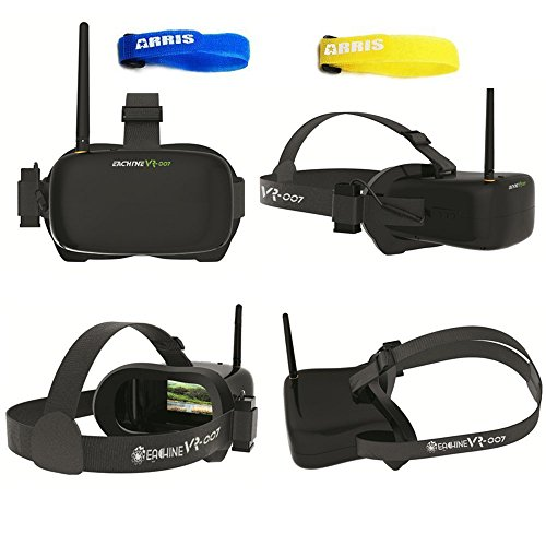 f44693810a2a Eachine VR-007 5.8G 40CH HD FPV Goggles Video Glasses 4.3 Inch With 7.4