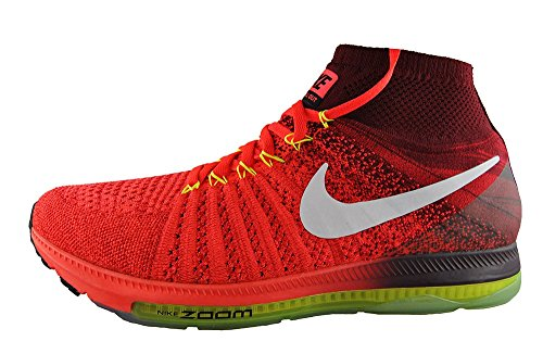 Nike Zoom All Out Flyknit, Zapatillas de Running para Hombre Rojo (Bright Crimson / White-Team Red-Volt)